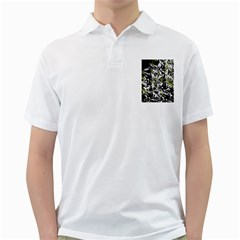 Green floral abstraction Golf Shirts