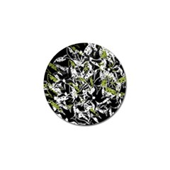 Green floral abstraction Golf Ball Marker