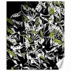 Green floral abstraction Canvas 20  x 24
