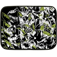 Green floral abstraction Double Sided Fleece Blanket (Mini)