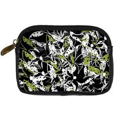 Green floral abstraction Digital Camera Cases