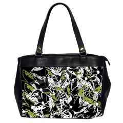 Green floral abstraction Office Handbags (2 Sides)