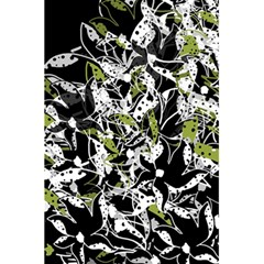 Green floral abstraction 5.5  x 8.5  Notebooks