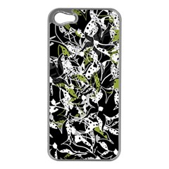 Green Floral Abstraction Apple Iphone 5 Case (silver)