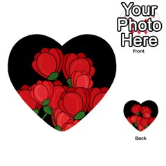 Red tulips Multi-purpose Cards (Heart)