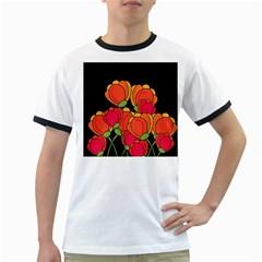 Orange tulips Ringer T-Shirts