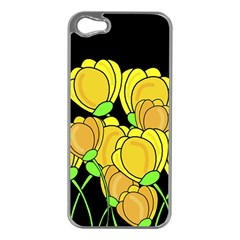 Yellow Tulips Apple Iphone 5 Case (silver)