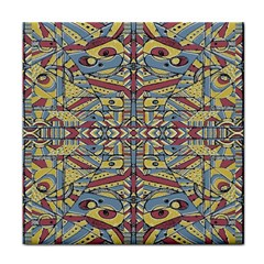 Multicolor Abstract Tile Coasters