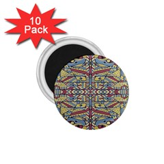 Multicolor Abstract 1 75  Magnets (10 Pack)