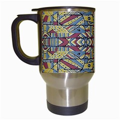 Multicolor Abstract Travel Mugs (white)