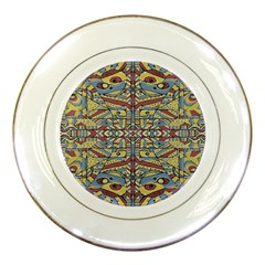 Multicolor Abstract Porcelain Plates