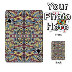 Multicolor Abstract Playing Cards 54 Designs