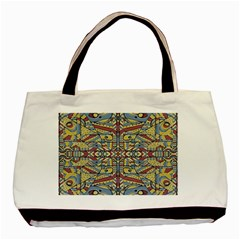 Multicolor Abstract Basic Tote Bag