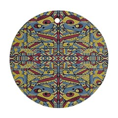 Multicolor Abstract Round Ornament (two Sides)