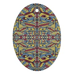 Multicolor Abstract Oval Ornament (two Sides)
