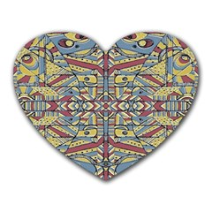 Multicolor Abstract Heart Mousepads