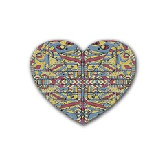 Multicolor Abstract Heart Coaster (4 Pack)