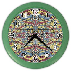 Multicolor Abstract Color Wall Clocks