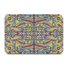 Multicolor Abstract Plate Mats
