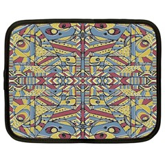 Multicolor Abstract Netbook Case (large)