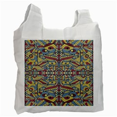Multicolor Abstract Recycle Bag (one Side)