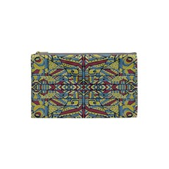 Multicolor Abstract Cosmetic Bag (small)