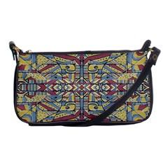 Multicolor Abstract Shoulder Clutch Bags