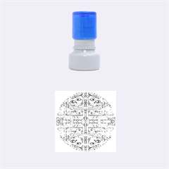 Multicolor Abstract Rubber Round Stamps (small)