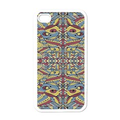 Multicolor Abstract Apple Iphone 4 Case (white)