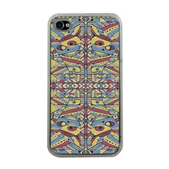 Multicolor Abstract Apple Iphone 4 Case (clear)