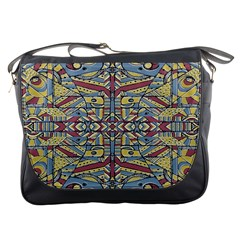 Multicolor Abstract Messenger Bags