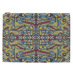 Multicolor Abstract Cosmetic Bag (xxl)
