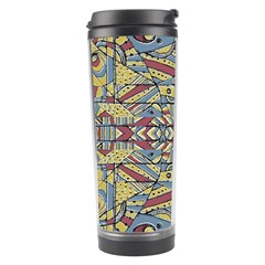 Multicolor Abstract Travel Tumbler