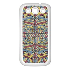 Multicolor Abstract Samsung Galaxy S3 Back Case (white)