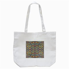 Multicolor Abstract Tote Bag (white)