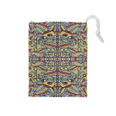 Multicolor Abstract Drawstring Pouches (medium)