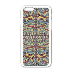 Multicolor Abstract Apple Iphone 6/6s White Enamel Case