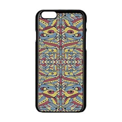 Multicolor Abstract Apple Iphone 6/6s Black Enamel Case