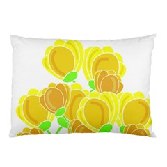 Yellow Flowers Pillow Case (two Sides)