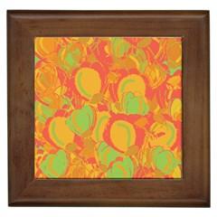 Orange garden Framed Tiles