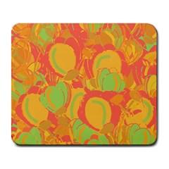 Orange garden Large Mousepads