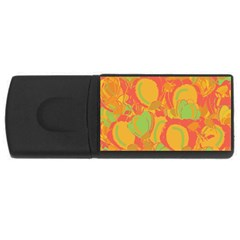 Orange garden USB Flash Drive Rectangular (1 GB)