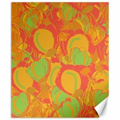 Orange garden Canvas 8  x 10
