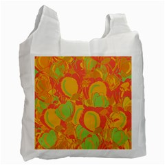 Orange Garden Recycle Bag (two Side)