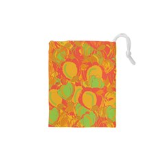 Orange garden Drawstring Pouches (XS)