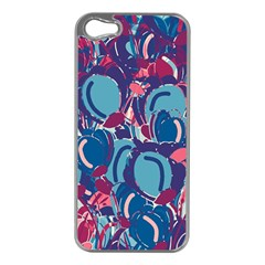 Blue Garden Apple Iphone 5 Case (silver)