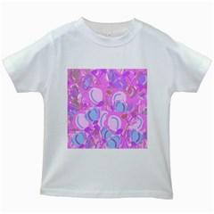 Pink garden Kids White T-Shirts