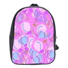 Pink garden School Bags(Large)