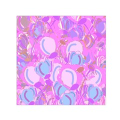 Pink garden Small Satin Scarf (Square)