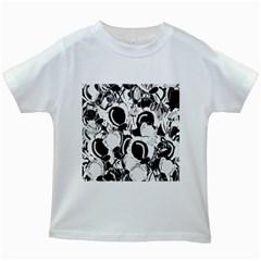 Black and white garden Kids White T-Shirts